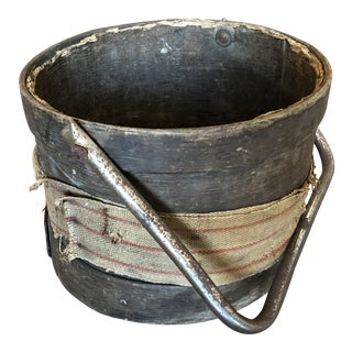 19th Century Industrial French Wooden Bucket For Sale