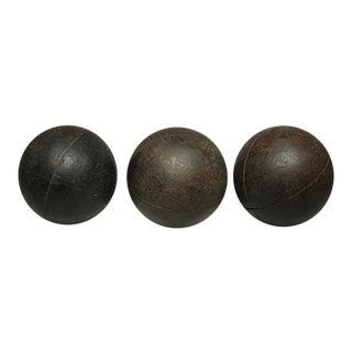 Wooden Bocci Balls C.1940s - Set of 3
