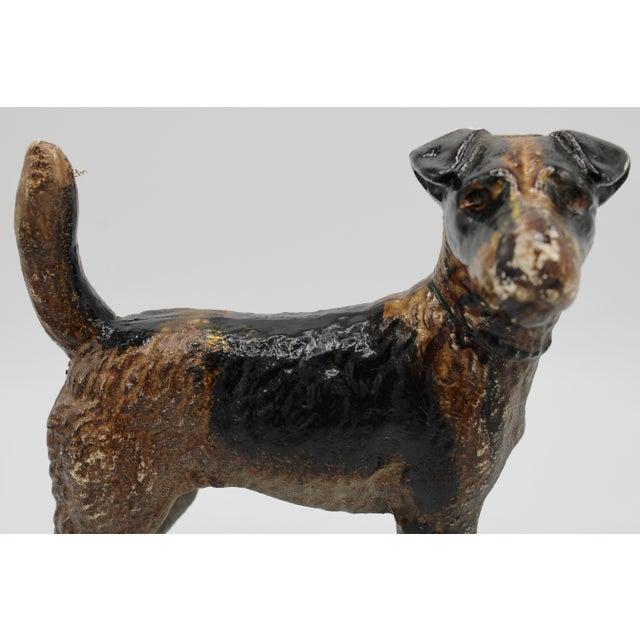 Antique Cast Iron Hubley Dog Door Stop / Garden Statue For Sale - Image 11 of 13