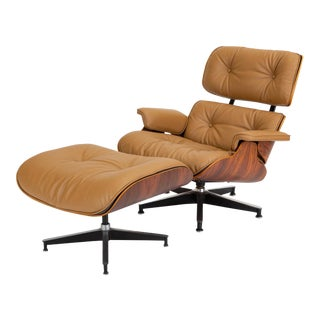 Third Generation Lounge Chair With Ottoman by Ray & Charles Eames for Herman Miller For Sale