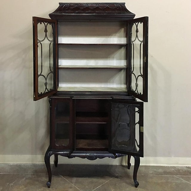Late 19th Century 19th Century English Curio Cabinet For Sale - Image 5 of 13