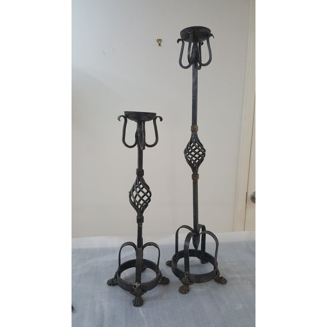 Theodore Alexander Theodore Alexander Tall Candle Holders - a Pair For Sale - Image 4 of 11
