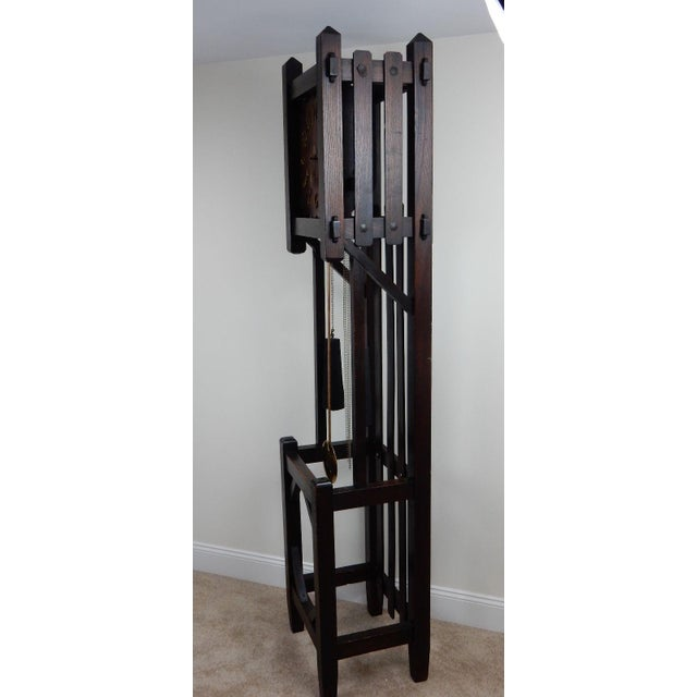 Antique Mission Arts & Crafts Tall Clock - Image 9 of 11