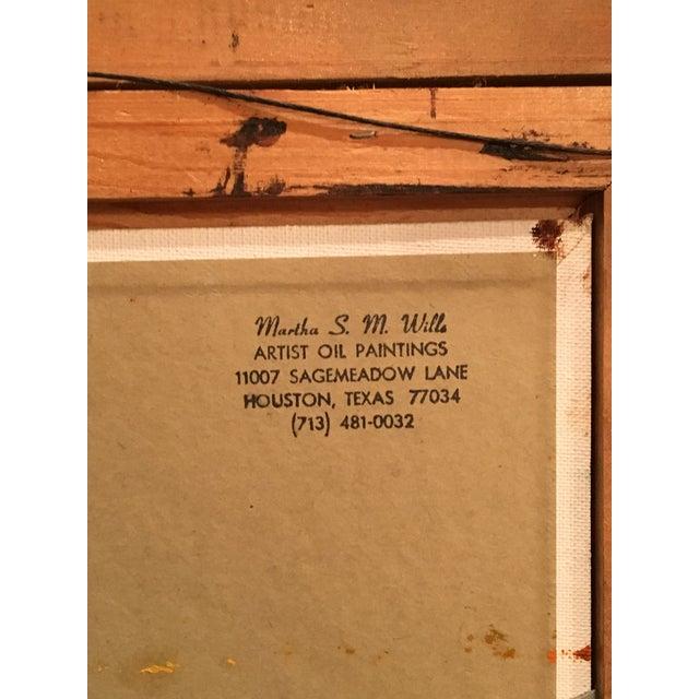 Brown Landscape Palette Knife Oil by Martha Wills For Sale - Image 7 of 7