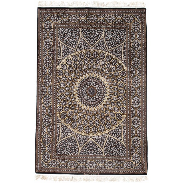 2010s Pasargad Persian Isfahan Korker Wool & Silk Highlighted Rug - 4′10″ × 7′6″ For Sale - Image 5 of 5