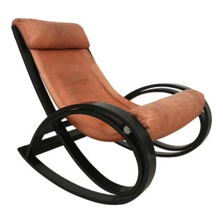1960s Age Aulenti Mid Century Rocking Chair For Sale