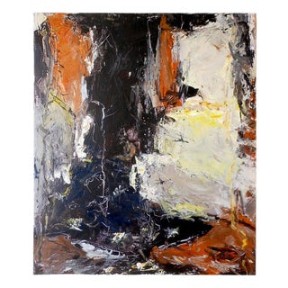 Danish Abstract Expressionist Oil Painting by John Hansen For Sale