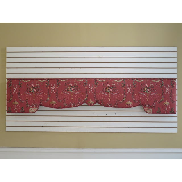 Custom Made Floral Print Box Window Valance For Sale - Image 9 of 9