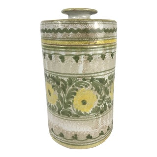 Handmade Italian Ceramic Canister For Sale