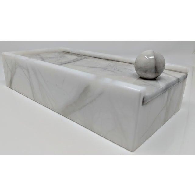 Alabaster Hermes Inspired Alabaster Box For Sale - Image 7 of 12