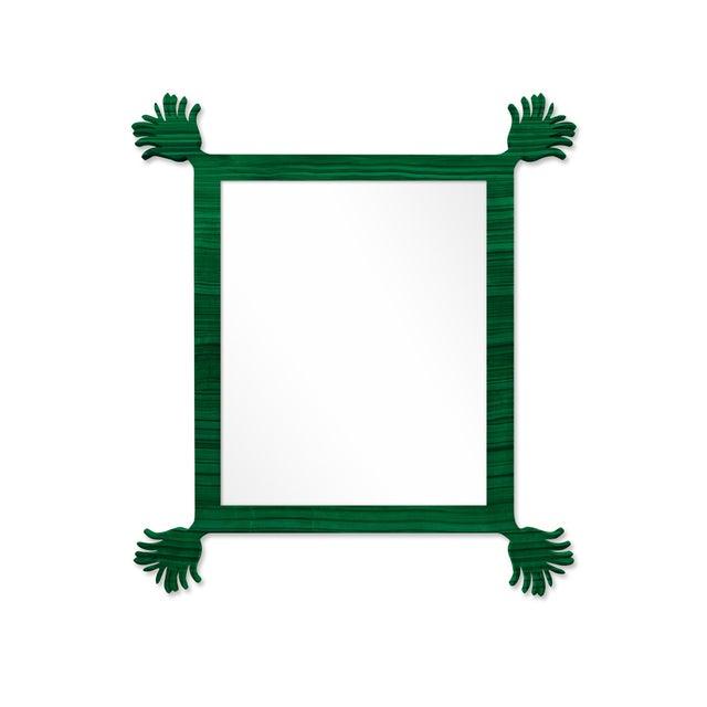 Contemporary Fleur Home x Chairish Vieux Mirror in Malachite, 43x55 For Sale - Image 3 of 3