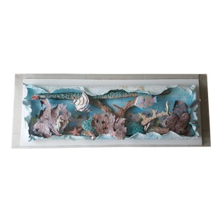 Kevin Kichar Fabric and Papermaking Coral Reef Maquette Board For Sale