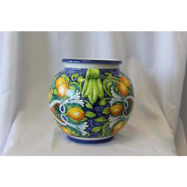 Late 20th Century Vintage Italian Ceramic Cache Pot For Sale - Image 5 of 6