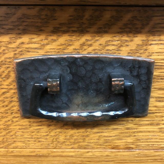 Copper Stickley Custom Oak Office Workstation For Sale - Image 8 of 12