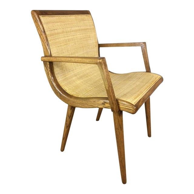 Oak Cane Sling Side Chair - Image 1 of 8