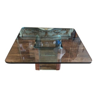 Vintage Pace Chrome & Glass Coffee Table For Sale