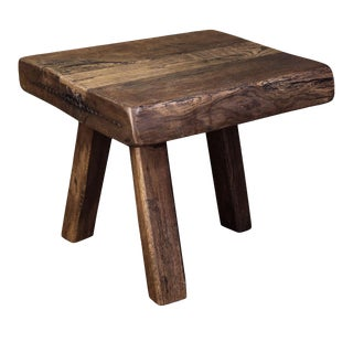 Chunky Massive Side Table For Sale
