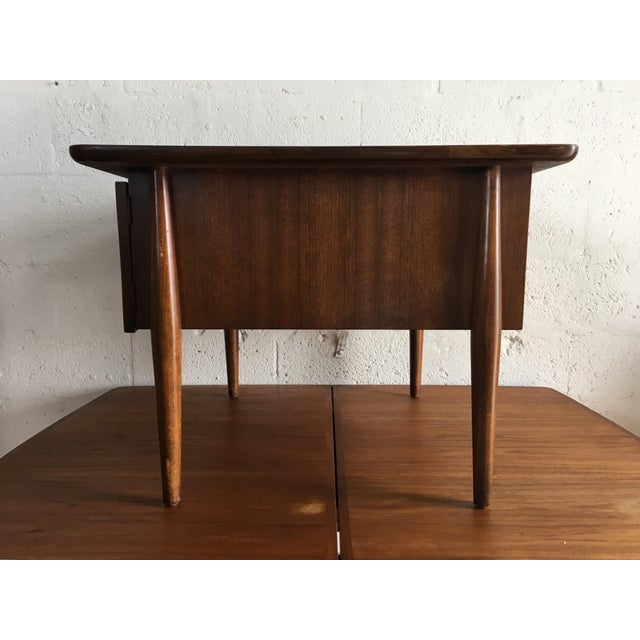 Mid-Century Modern Side Table With Caned Doors . For Sale - Image 5 of 11