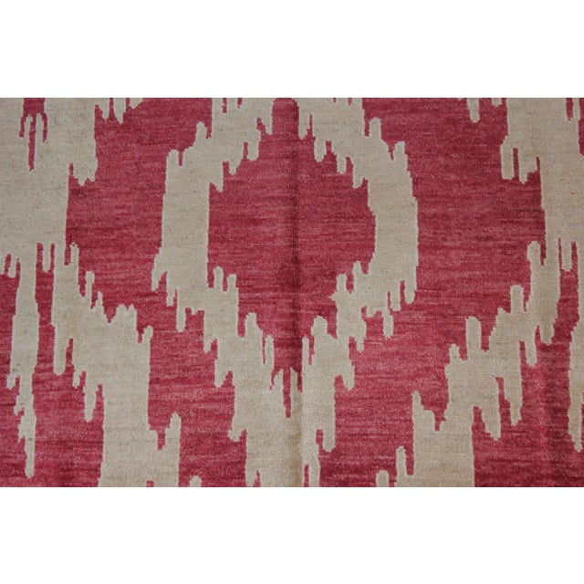 """Modern Hand Knotted Ikat Rug - 13'4"""" X 10'6"""" For Sale - Image 3 of 4"""