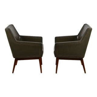 Pair of Early Modernist Armchairs by Vista of California for Stow Davis For Sale
