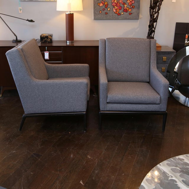 Gray Pair of Martin Brattrud of California Club Chairs For Sale - Image 8 of 8