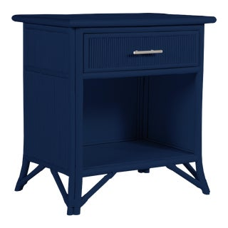 Aruba One-Drawer Nightstand - Navy Blue For Sale