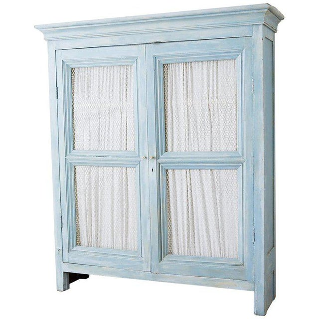 Country French Provincial Painted Armoire Cabinet For Sale - Image 13 of 13