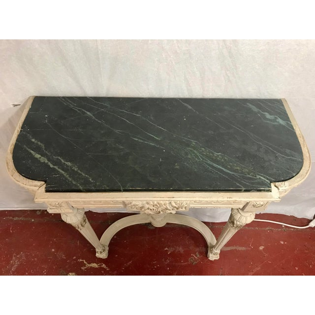 Louis XVI Style Painted Consoles a Pair For Sale - Image 11 of 13