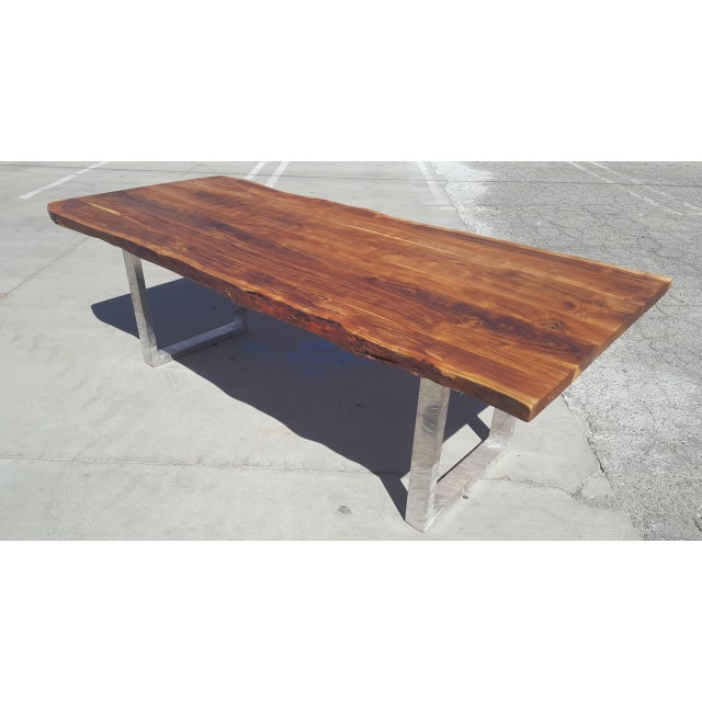 Acacia Wood Live Edge Dining Table - Image 3 of 8