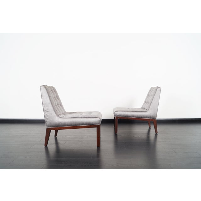 Danish Modern Dunbar Slipper Chairs by Edward J. Wormley For Sale - Image 3 of 9