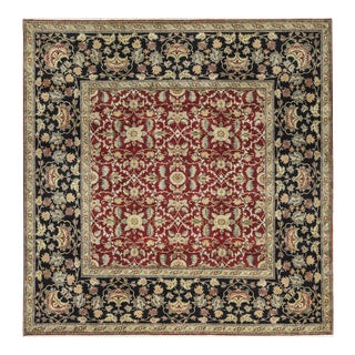 """Traditional Hand Woven Wool Rug - 9'11"""" X 10'1"""" For Sale"""