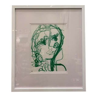 """""""Faces"""" in Green by Allison Hobbs For Sale"""
