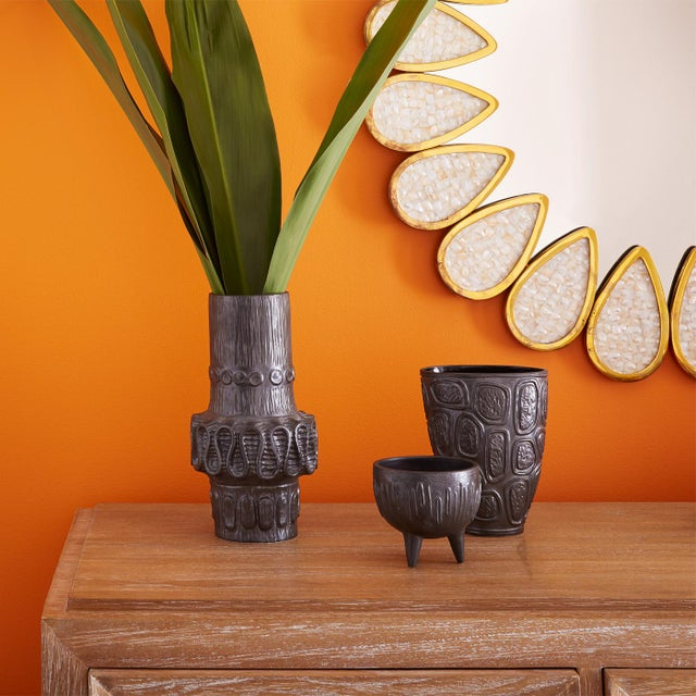 This Jonathan Adler vase combines Brutalist architecture in organic textures and strong lines in this collection of...