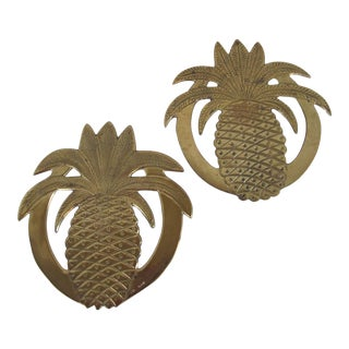 Brass Pineapple Trivets- 2 Pieces For Sale