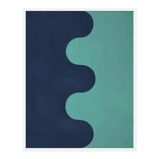 "Medium ""Hairpin Serpentine in Blues"" Print by Stephanie Henderson, 32"" X 40"""