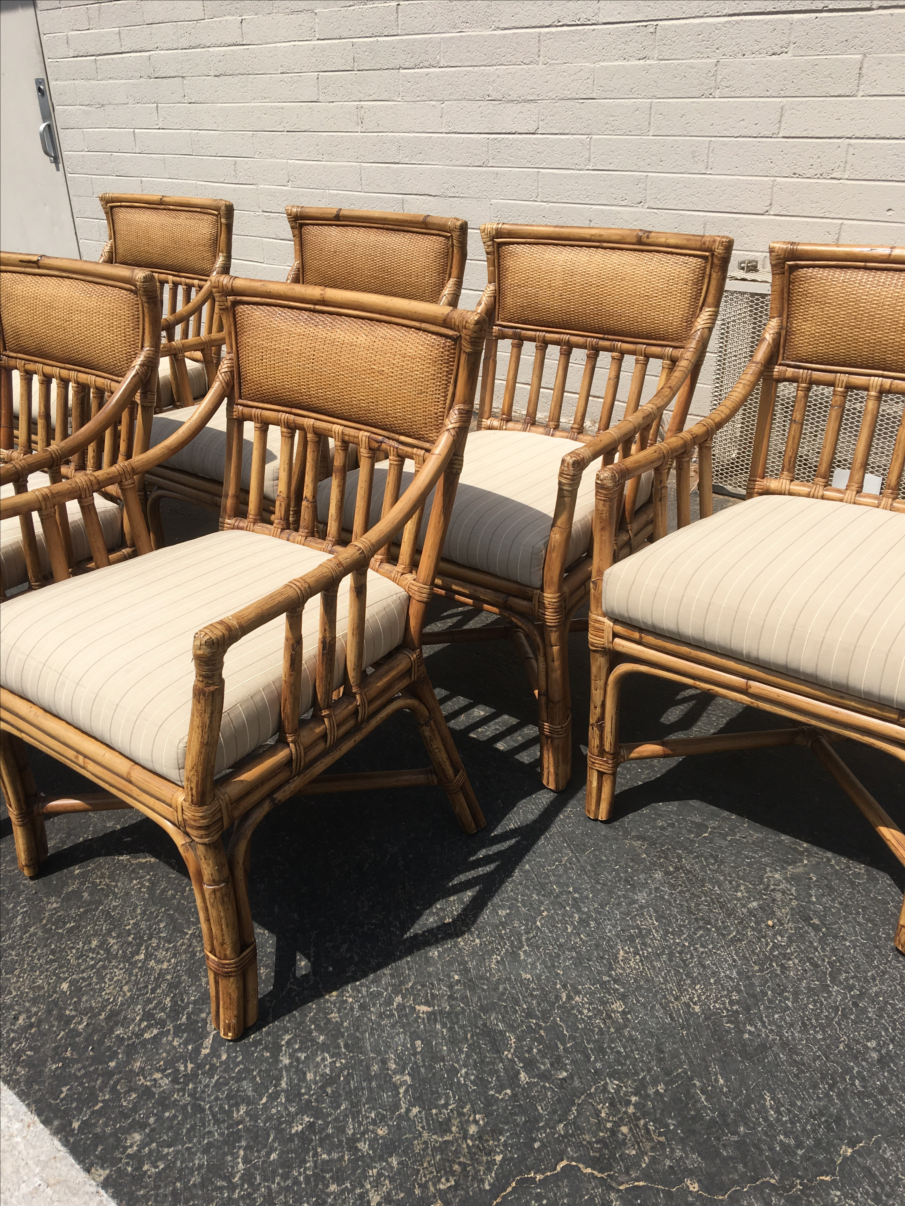 Palecek Bamboo Dining Chairs   Set Of 6   Image 4 Of 5