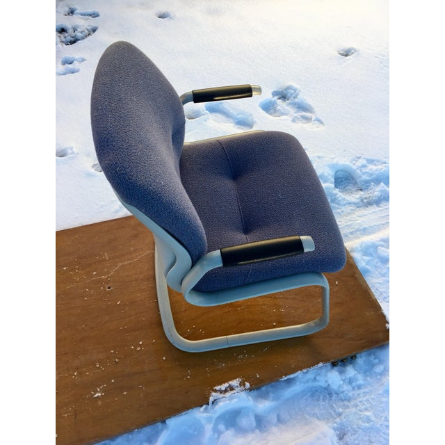 1980s Cantilever Armchair by Steelcase For Sale - Image 10 of 12