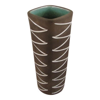 Helge Osterberg Incised Zig Zag Vase For Sale