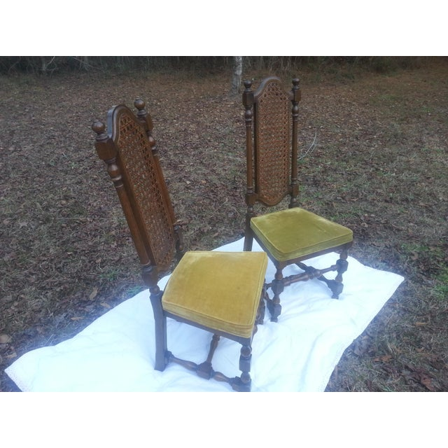 Georgian 1929 Century Furniture Company Cane Chairs - A Pair For Sale - Image 3 of 7