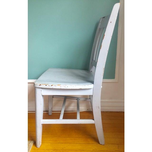 "Vintage Wooden ""Teacher's"" Desk Chair - Image 3 of 4"