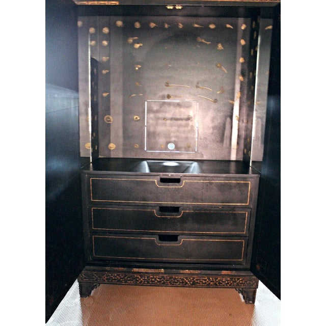Vintage Asian Chinoiserie Cabinet - Image 8 of 9