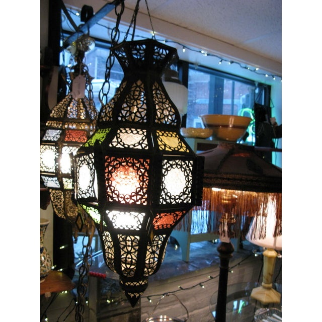 Antique Hanging Moroccan Lanterns - A Pair - Image 2 of 9