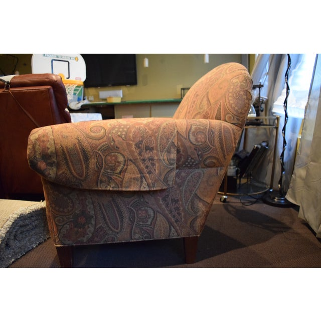 Ethan Allen Ethan Allen Roll-Arm Chair For Sale - Image 4 of 5