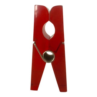 Giant Red Lucite Clothespin For Sale