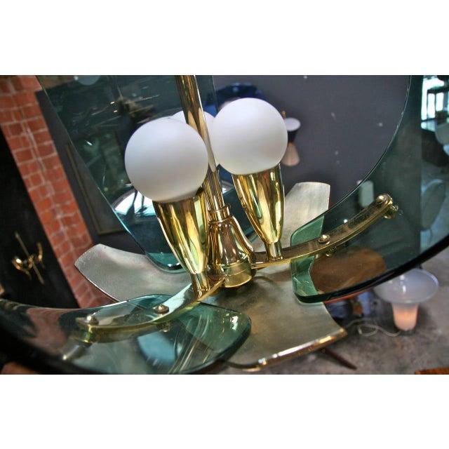 Blown Glass Italian Chandelier, 1950s For Sale - Image 7 of 9