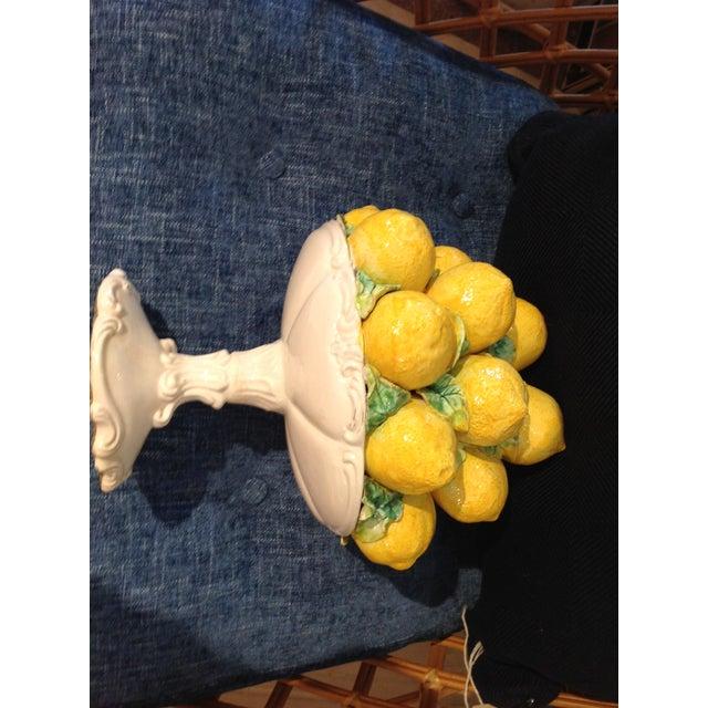 1950s Italian Yellow Faience Lemons Centerpiece - Image 3 of 5