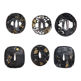 Vintage Japanese Tsuba's - Set of 6 For Sale