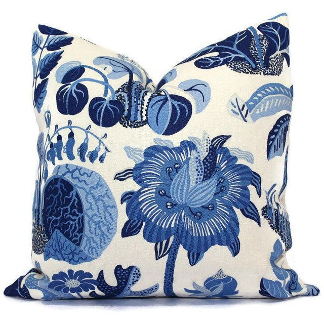 """20"""" x 20"""" Schumacher Butterfly in Blue Decorative Pillow Cover For Sale - Image 4 of 5"""