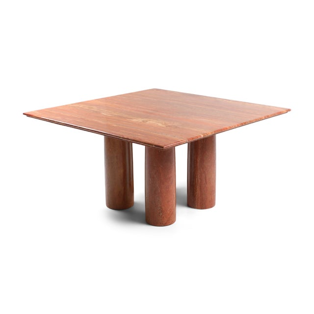 Mario Bellini's Red Travertine 'Il Collonato' Dining Table For Sale - Image 11 of 11