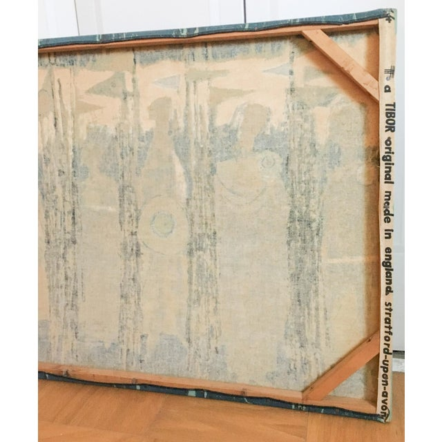 The Age of Kings in Blue Textile Art by Tibor Reich For Sale - Image 11 of 11